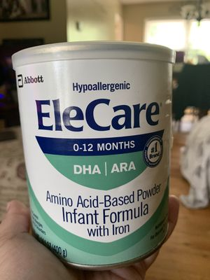 FREE Elecare Infant Formula Powder (retail $45/can) Expires 10/2021 for Sale in Manalapan Township, NJ