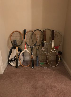 Vintage tennis rackets/ $5 - $10each. Discount for the more you buy for Sale in Atlanta, GA