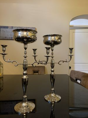 2 real silver candelabras for Sale in Orlando, FL