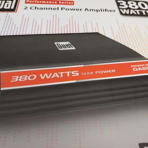Car amplifier : Dual 380 watts 2 channel 2-4 ohm stable built in crossover 20 a fuse brand new for Sale in Commerce, CA