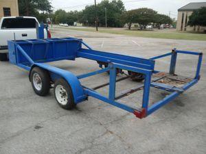 Traila 14x7 le falta que ponerle la plataforma pero está muy maciza for Sale in Grand Prairie, TX