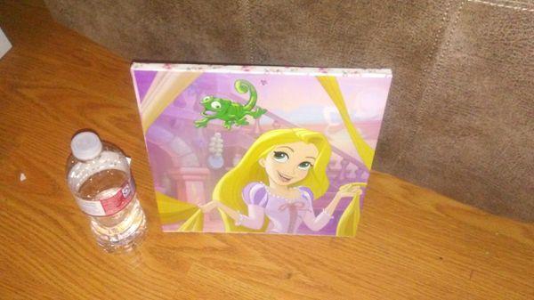 SIZE:10×10 INCHES rapunzel decoupage wood wall picture cuadro estilo decoupage de madera de la princesa raspunsel