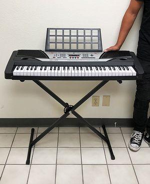 (NEW) $75 Music Electric Keyboard Digital 61 Key Piano Beginner Organ w/ Stand for Sale in Whittier, CA