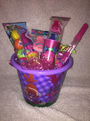 Trolls theme Easter basket💕 for Sale in Dallas, TX