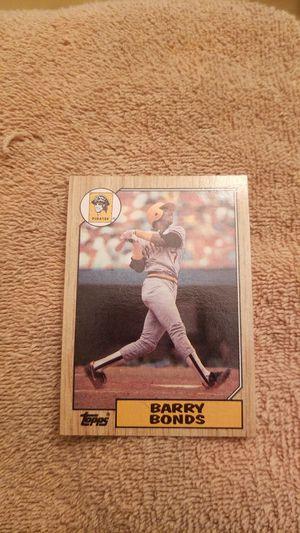1987 Topps Barry Bonds Baseball Card for Sale in Millersville, MD