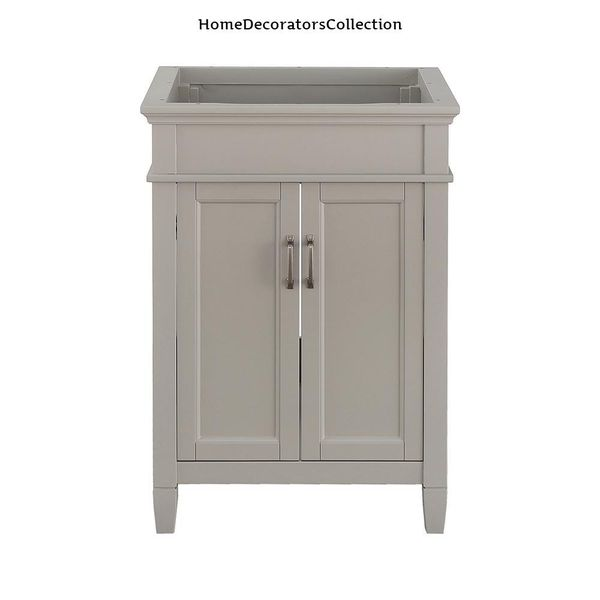 Home Decorators Collection Ashburn 24 in. W x 21.63 in. D Vanity Cabinet in Grey
