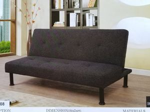 Charcoal Futon sofa bed ( new ) for Sale in Hayward, CA