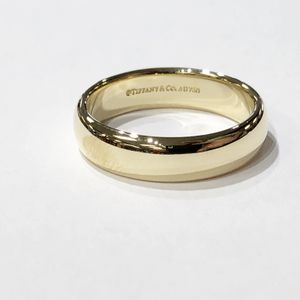 18K Yellow Gold Unisex 5.8 mm Tiffany & Co Plain Wedding Band Size: 11.5 90429-1 for Sale in Tampa, FL