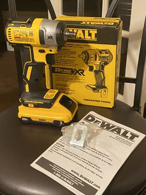 20-Volt MAX XR Lithium-Ion Brushless Cordless 1/2 in. Impact Wrench with Detent Pin Anvil With Battery for Sale in NEW CARROLLTN, MD