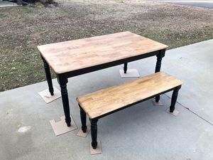 Dinning table and two benches/complete set for Sale in Boiling Springs, SC