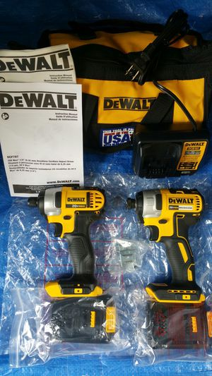 $250. Dewalt impact drives Combo Set, with Two Battries, charger, bag for Sale in Evergreen, CO