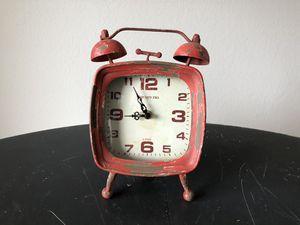 Orange antique alarm clock for Sale in Marysville, WA