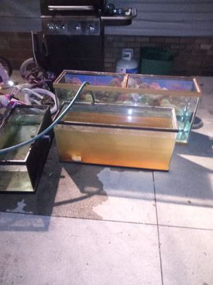 Fish Tanks 1 - 55 gallon ONLY TANKS!! NOTHING ELSE(I NEED A TMOBILE PHONE WILLING TO TRADE) for Sale in Lakewood, OH