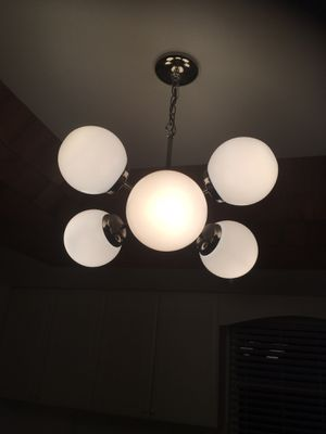 5 bulb retro light fixture for Sale in Fort Lauderdale, FL