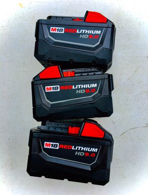 New (3) Milwaukee M18 HD 9.0 Batteries FIRM DEAL for Sale in Modesto, CA