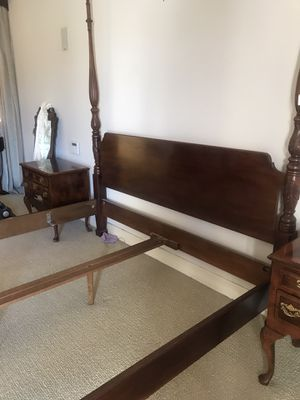 King Size bed frame - mattress available for Sale in Downey, CA