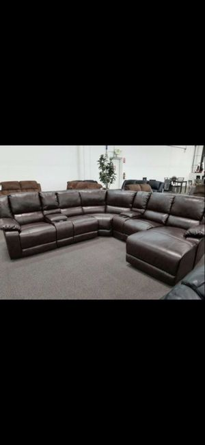 New sofa has recliners chaise $1500 for Sale in Hemet, CA