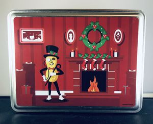 Planter's-Mr. Peanut Christmas Holiday Fireplace Tin- Very Good Condition! for Sale in Skokie, IL