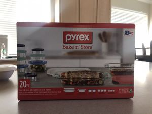 Pyrex Bake N' Store - 20pc NEVER OPENED BRAND NEW for Sale in Sugar Land, TX