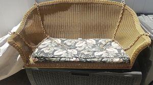 Plastic wicker porch swing chair for Sale in Wildomar, CA