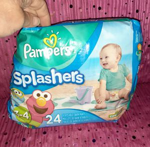 20 Splashers Pampers Diapers Size 3-4 for Sale in San Bernardino, CA