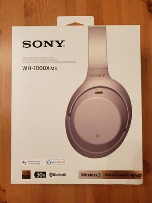 New Sony WH-1000XM3 Wireless Noise Canceling Headphones - Silver for Sale in Mukilteo, WA