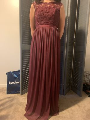 Long Bridesmaid Dress with Lace Bodice for Sale in Hamburg, NY
