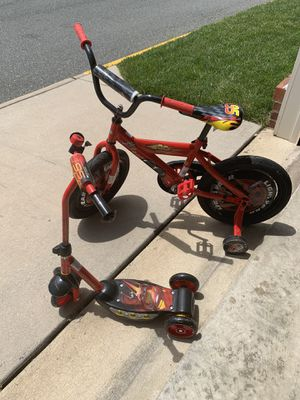 Lil Boy Bike and Scooter Set for Sale in Woodbridge, VA