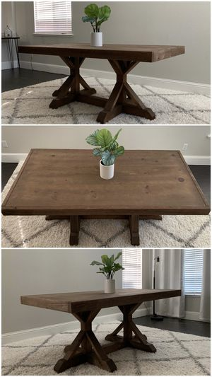 6FT x 3FT Solid Wood Rustic Farmhouse Dining Table for Sale in Brentwood, CA