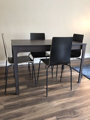 Extendable IKEA Dining Table + 4 Chairs for Sale in Portland, OR