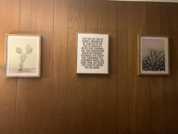 3 target framed canvas