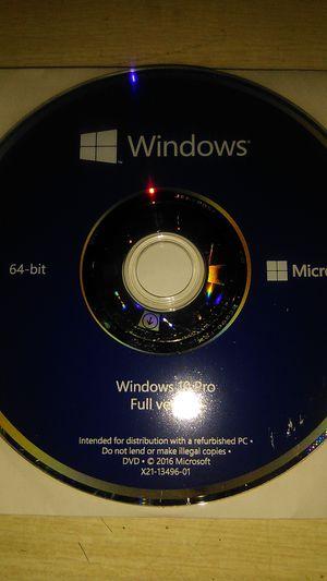 Windows 10 Pro full version for Sale in San Jacinto, CA