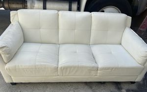 White leather sofa for Sale in Los Angeles, CA