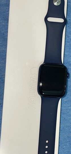 apple watch series 6 44mm blue aluminum deep navy sport band for Sale in New York,  NY