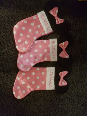 Personalized minnie stocking for Sale in Rancho Cucamonga, CA