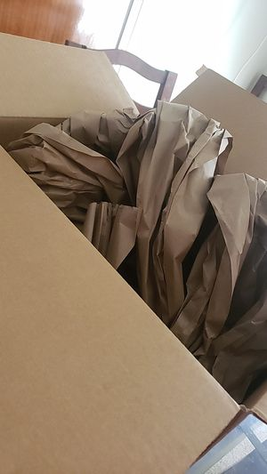 free!! large box and packing paper!! for Sale in Dallas, TX