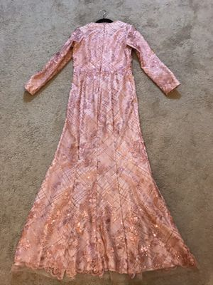 Pink custom made evening gown prom dress sz8 for Sale in North Olmsted, OH