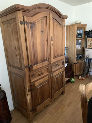 Armoire and two bookshelves for Sale in Scottsdale, AZ