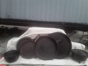 Assorted cast iron cookware. Six pieces for Sale in Port Richey, FL