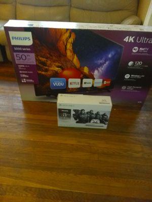50 inch 4k ultra HD Phillip 5000 series smart TV & 1Tb Xbox 1s for Sale in Detroit, MI
