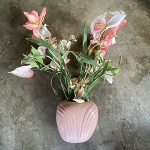 Modern Pink Vase With Fake Plant for Sale in Hampton, VA
