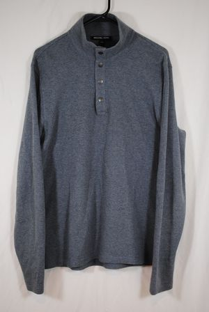 Michael Kors Long Sleeve Pullover Sz M Gray With Snaps Mock Neck, OBO for Sale in Centreville, VA
