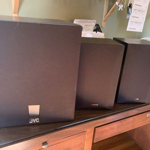 JVC Subwoofer And Polk audio Shelf Speakers for Sale in San Diego, CA