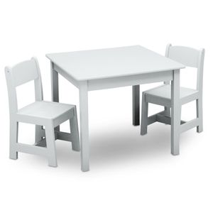 Delta Children MySize Kids Wooden Play Activity Table & Chairs Set, Bianca White for Sale in Los Angeles, CA