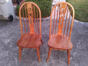 Oak chairs for Sale in Pompano Beach, FL