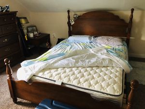 Solid wood Queen bed frame for Sale in Erdenheim, PA