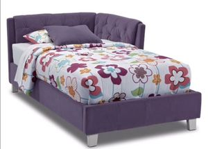 New kids purple twin bed with new mattress for Sale in Cleveland, OH