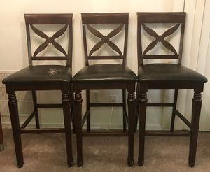 3 high wooden chairs for Sale in Alexandria, VA