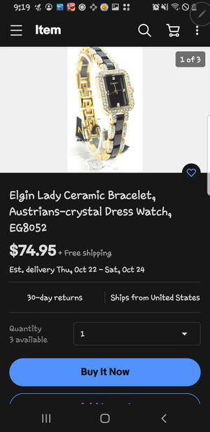Elgin lady watch for Sale in Quincy, IL