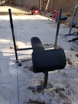 Bench With Preacher Curl attachment for Sale in Glendale, AZ